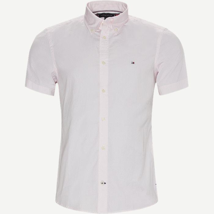 Essential Print Shirt SS - Kortærmede skjorter - Slim - Pink